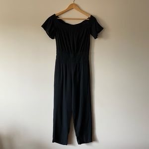 French Connection Ruched Off Shoulder Jumpsuit
